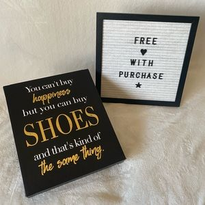 Adorable sign - free with purchase!